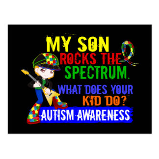 Rocks Spectrum Autism Son Postcard