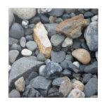 Rocks, stones, and gravel ceramic tile