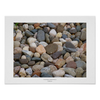 Rocks stones beautiful unique all different photo poster