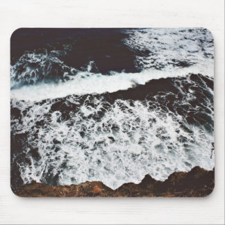 Rocks Themed, View From Top Of A Cliff To Foamy, F Mouse Pad