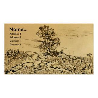 Rocks with Oak Tree Van Gogh Fine Art Business Card