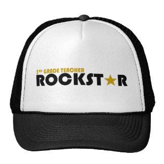 Rockstar - 3rd Grade Teacher Mesh Hats