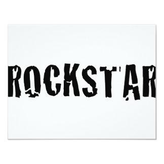rockstar 4.25x5.5 paper invitation card