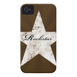 Rockstar Blackberry Case (grunge textures - light)