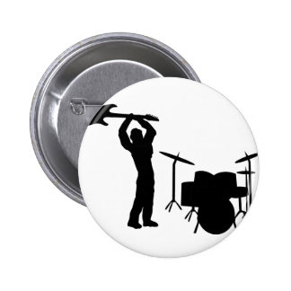 Rockstar drum guitar smasher 2 inch round button