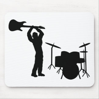 Rockstar drum guitar smasher mouse pad