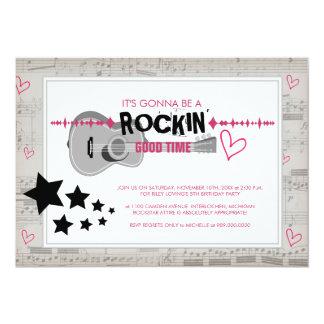 """Rockstar embroma invitaciones de la fiesta de invitación 5"""" x 7"""""""