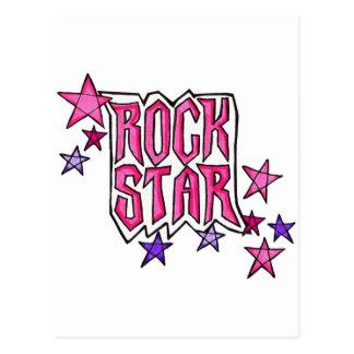 RockStar en rosa Tarjetas Postales