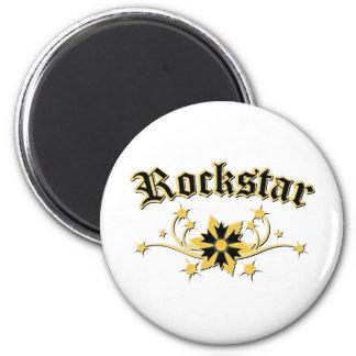 Rockstar Fashion Design 2 Inch Round Magnet