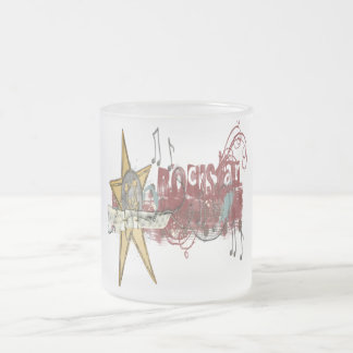 Rockstar - Frosted Glass Mug