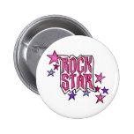 RockStar in PInk 2 Inch Round Button