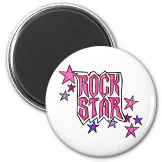 RockStar in PInk 2 Inch Round Magnet