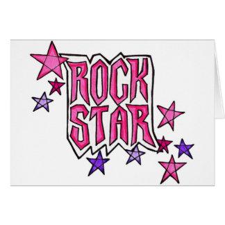 RockStar in PInk Card