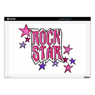 RockStar in PInk Decal For Laptop