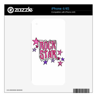 RockStar in PInk Decals For iPhone 4