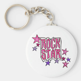 RockStar in PInk Keychain