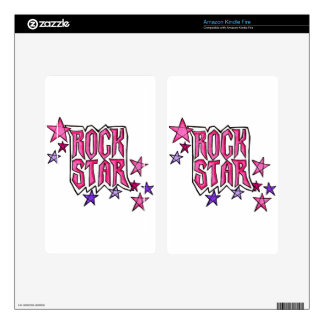 RockStar in PInk Kindle Fire Decal