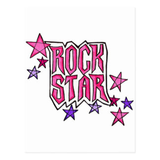 RockStar in PInk Postcards