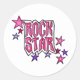 RockStar in PInk Stickers