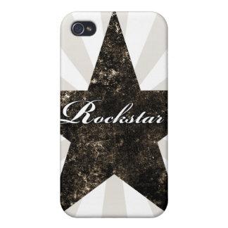 Rockstar iPhone Case (grunge textures - dark) iPhone 4/4S Cases