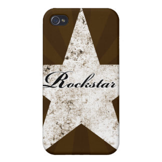 Rockstar iPhone Case (grunge textures - light) iPhone 4 Cases