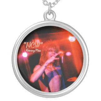"Rockstar Kenny Mac Silver Necklace Live RED""NCW"""