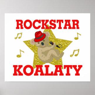 Rockstar Koalaty Singing Party Animal Poster