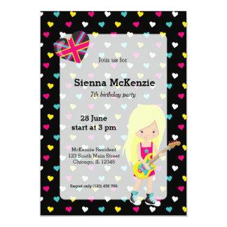 Rockstar party 5x7 paper invitation card