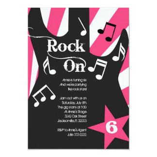 "Rockstar Party Invitatation 5"" X 7"" Invitation Card"