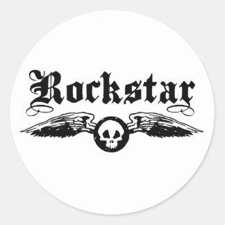 Rockstar Pegatina Redonda