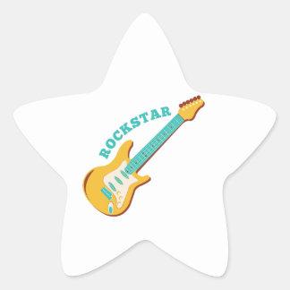 Rockstar Pegatinas Forma De Estrella