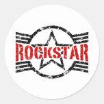 Rockstar Round Stickers