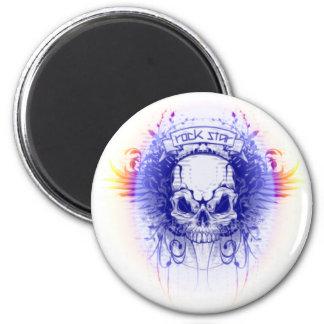 Rockstar Skull - Magnet