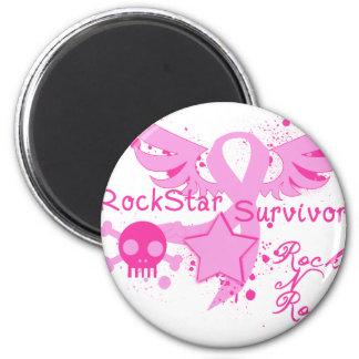 Rockstar Survivor 2 Inch Round Magnet