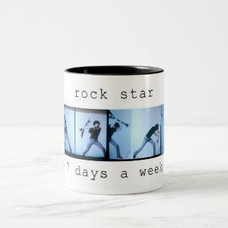 rockstar taza de dos tonos