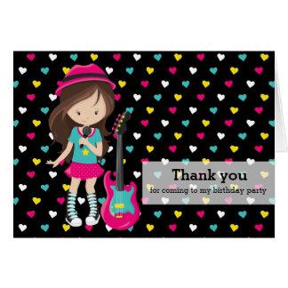 Rockstar Thank you Card