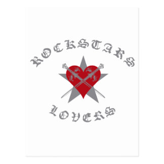 Rockstars And Lovers fashion Clothing accessories Postcard