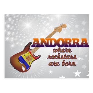Rockstars are born in Andorra Postcard