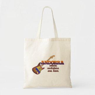Rockstars are born in Andorra Tote Bag
