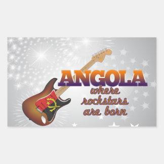 Rockstars are born in Angola Rectangular Sticker