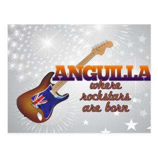 Rockstars are born in Anguilla Postcard