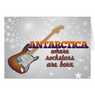 Rockstars are born in Antarctica Greeting Card