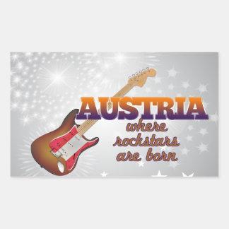Rockstars are born in Austria Rectangular Sticker