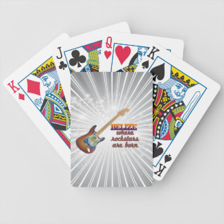 Rockstars are born in Belize Bicycle Playing Cards
