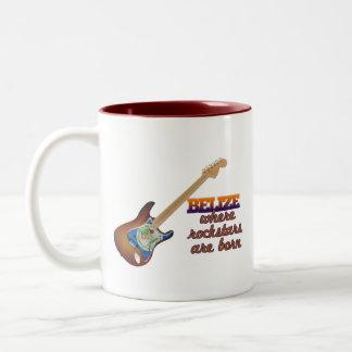 Rockstars are born in Belize Coffee Mugs