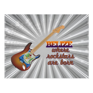 Rockstars are born in Belize Postcard