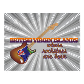 Rockstars are born in British Virgin Islands Post Card