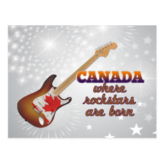Rockstars are born in Canada Postcard