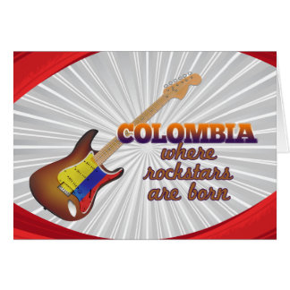 Rockstars are born in Colombia Greeting Cards