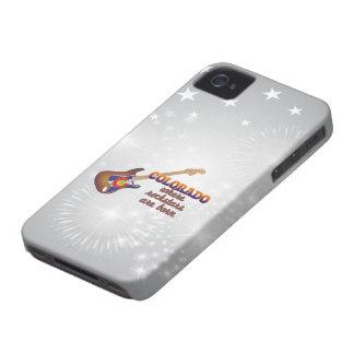 Rockstars are born in Colorado Case-Mate iPhone 4 Case